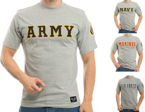 875564c14 US Patriotic Military Army Navy Air Force Marines Law Enforcement Logo T- Shirts