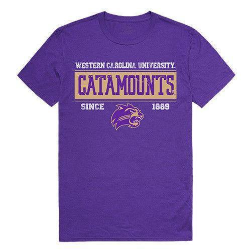 Wcu Western Carolina University Catamounts NCAA Established Tees T-Shirt