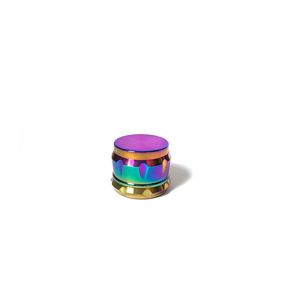 Holographic rainbow drum herb grinder