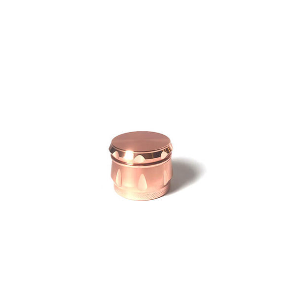 Rose gold pink gold drum herb grinder