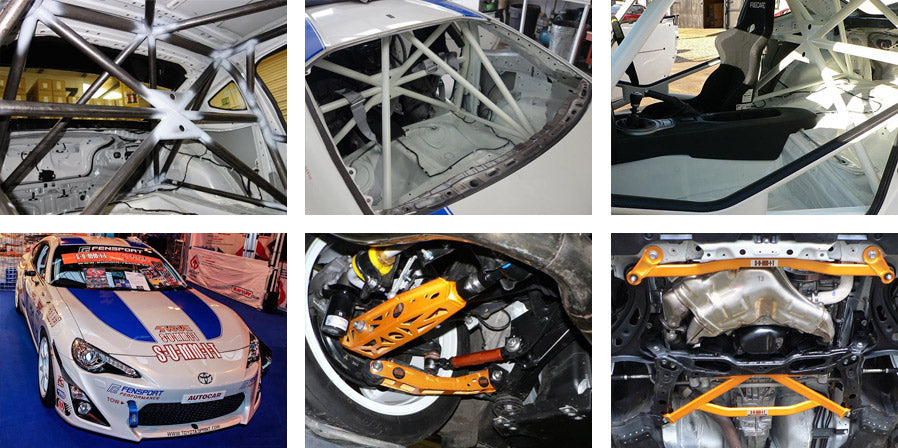 GT86R Roll cage and Swave suspension products