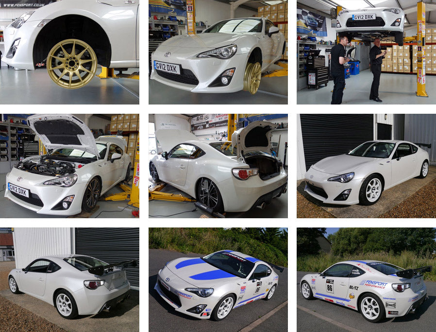 GT86 race car development begins in the Fensport workshop