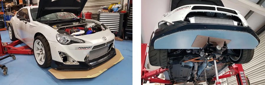 GT86R front splitter build 1