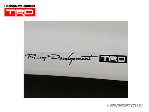 TRD Sticker - Small - Black 38 x 314mm