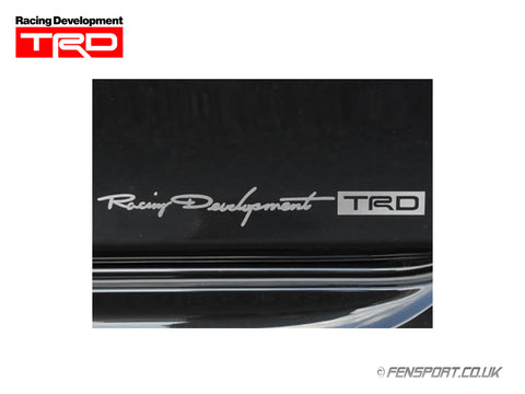 TRD Sticker - Small - Silver 38 x 314mm
