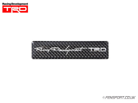 TRD Carbon Sticker Emblem - 20 x 85mm