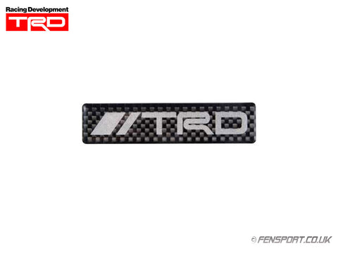 TRD Carbon Sticker Emblem - Logo Type - 20 x 85mm