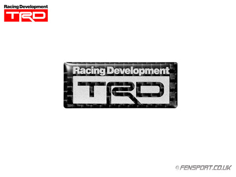 TRD Carbon Sticker Emblem - B Logo Type - 20.5 x 50mm