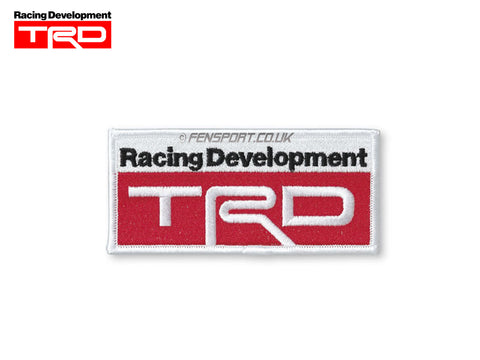 TRD Sew On Badge 50x107mm