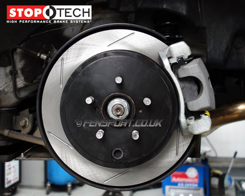 Brake Discs - Rear - Stoptech Grooved - GT86 & BRZ