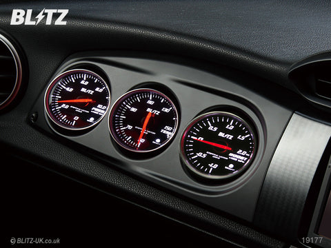 Blitz Racing Meter Panel - Black + Boost, Temp & Pressure SD Gauges - GT86 & BRZ