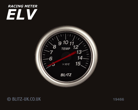 Blitz ELV Temperature Gauge - 60mm Black - 19466