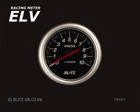 Blitz ELV Pressure Gauge - 60mm Black - 19467