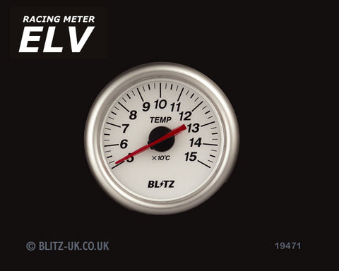 Blitz ELV Temperature Gauge - 60mm White - 19471