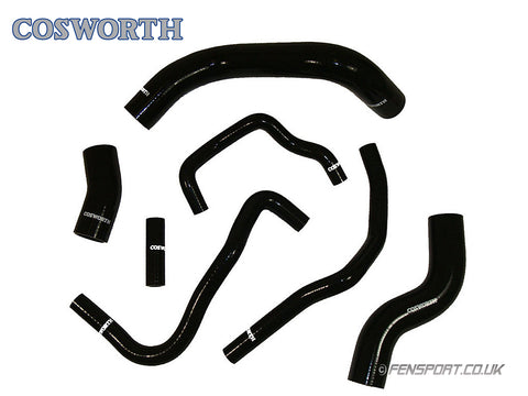 Cosworth Silicon Coolant Hose Set -  Black - 7 Piece - GT86 & BRZ