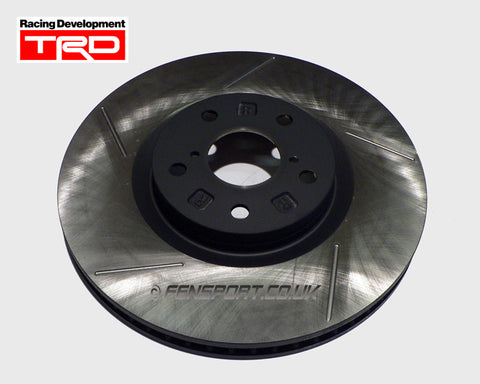 Brake Disc - Front - TRD 5 Groove - Right Hand - 323mm - Supra JZA80 4 Piston
