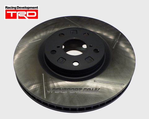Brake Disc - Front - TRD 5 Groove - Left Hand - 323mm - Supra JZA80 4 Piston