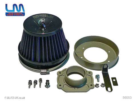 Blitz LM Induction Kit - Blue - 56053 - Starlet Turbo EP82