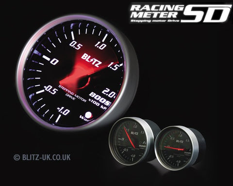 Blitz Racing Meter SD Boost Gauge - 60mm - 19561