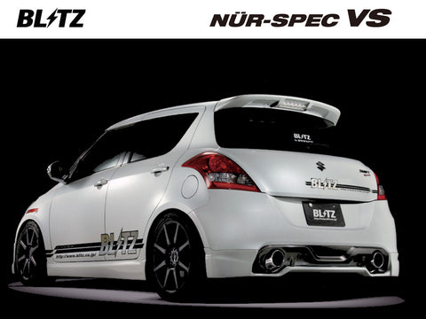 Blitz Nur Spec VS Exhaust System - 1 Piece - 62099 - Swift Sport ZC32S