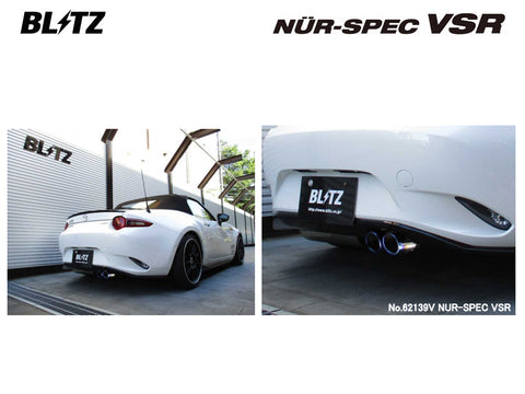 Blitz Nur Spec VSR Exhaust System - Twin - 62139V - MX5 1.5 ND5