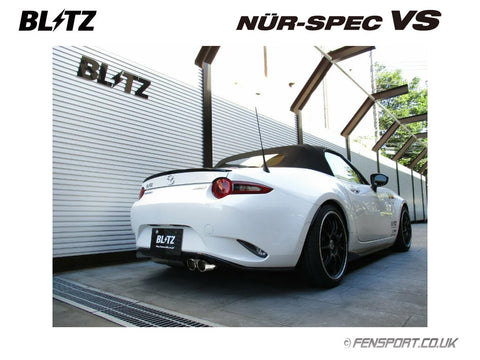 Blitz Nur Spec VS Exhaust System - 62139 -  Twin - MX5 1.5 ND5