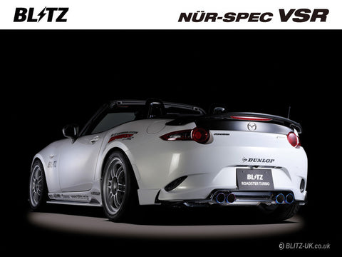 Blitz Nur Spec VSR Exhaust System - Quad - 62140V - MX5 1.5 ND5