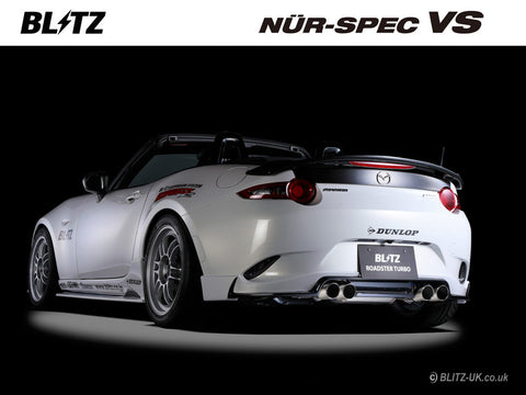 Blitz Nur Spec VS Exhaust System - Quad - 62140 - MX5 1.5 ND5
