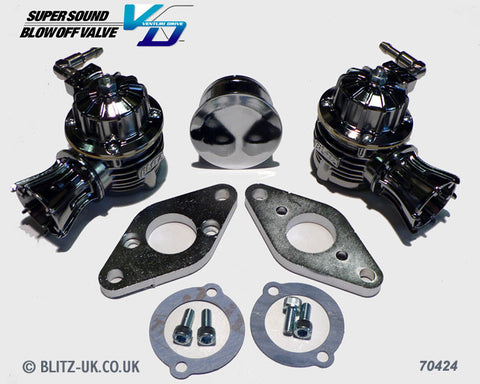 Blitz Twin Dump Valve Kit - Blow Off Valve - 70424 - R32 R33 & R34 GTR