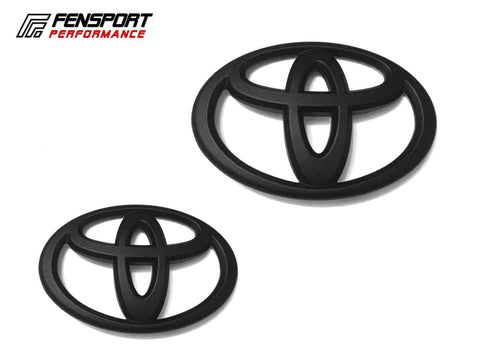 Emblem Badge - Front & Rear - Black - GT86 2017 On