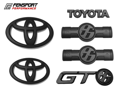Emblem Badge Set - Matt Black - GT86 2012> 2016