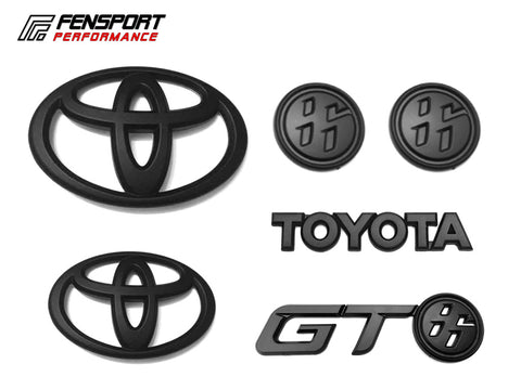 Emblem Badge - Set 2 - Black - GT86 2017 On