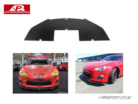 APR Carbon Fiber Wind Splitter With Rods - GT86