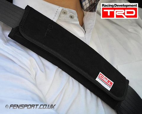 TRD Seat Belt Shoulder Pad Set - Black Stitching