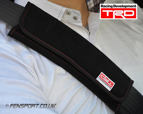 TRD Seat Belt Shoulder Pad Set - Red Stitching