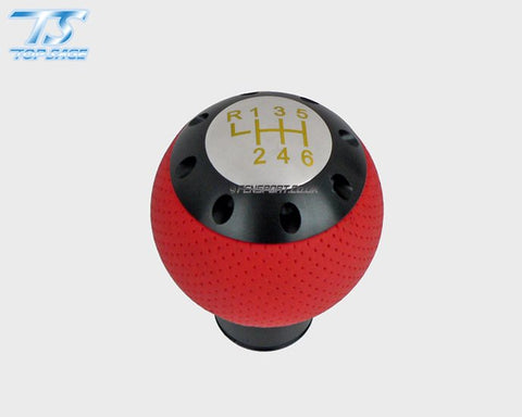 Red Leather Gear Knob - Manual - GT86 & BRZ