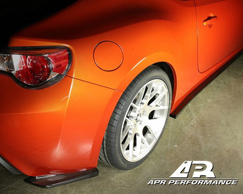 APR Carbon Fibre Rear Bumper Skirts - GT86 & BRZ