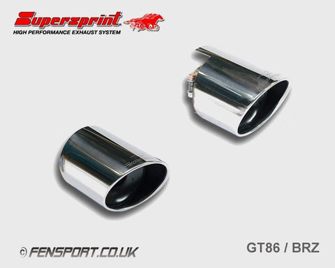 Supersprint Exhaust 120mm Chromed Tail Tips (pair) - GT86 & BRZ