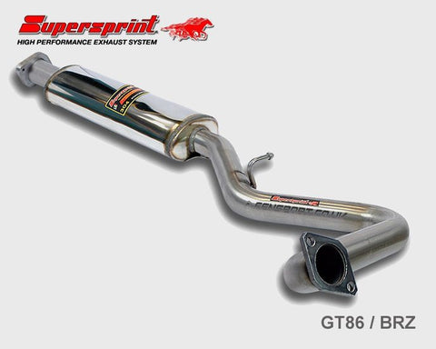 Supersprint Exhaust Centre pipe with Resonator - GT86 & BRZ