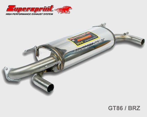 Supersprint Exhaust Rear Silencer - GT86 & BRZ