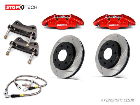 Brake Kit - Rear - Stoptech - 4 Piston - 355mm - Red Calipers - Supra JZA80