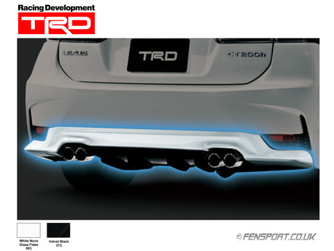 TRD - Rear Diffuser - White 083 - Lexus CT200h
