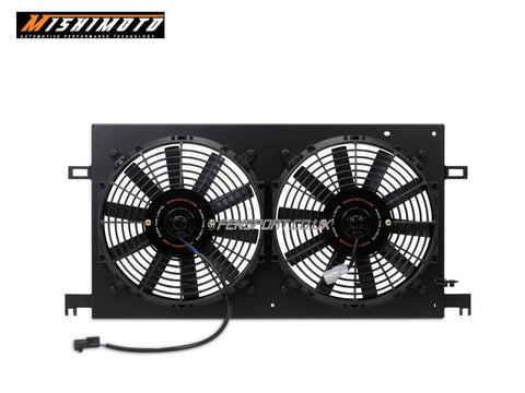GT86 Mishimoto Alloy Fan Shroud with Fans - Black Finish