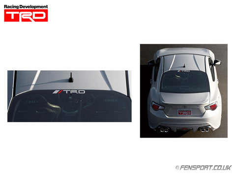 TRD Sticker - Rear Window - Black with Logo - 65 x 740mm