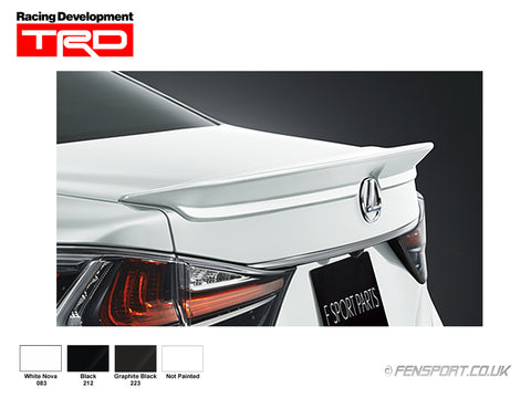 TRD Rear Spoiler - Graphite Black 223 - GS300h & GS450h
