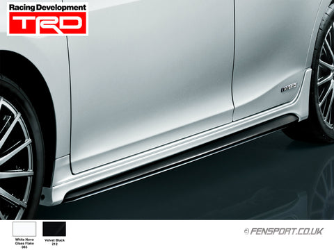 TRD - Side Skirts - White 083 - Lexus CT200h