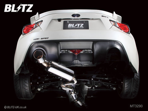 Blitz NUR Spec R Exhaust Sytsem - MT3290 - Single Exit - GT86 & BRZ