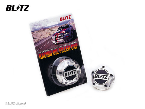 Blitz Oil Filler Cap - Polished - 18693 - Mazda