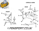 SuperPro - Rear Anti Roll Bar Link - Upper Bush Kit - Corolla, Paseo, Cynos & Starlet - SPF0903-4K