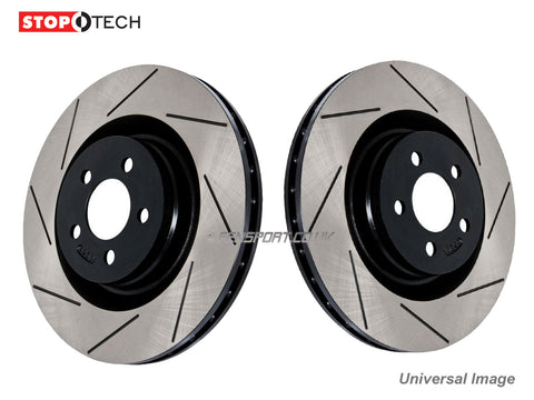 Brake Discs - Front - Stoptech - Grooved - 296mm - Lexus IS200D, IS220D, IS250, IS300h